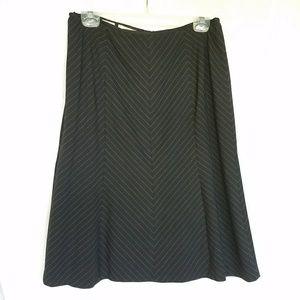 Nine West pinstripe midi skirt, black, white, 10